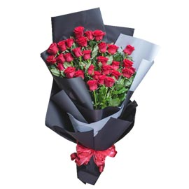 buy 30 red roses bunch same day delivery in kanpur