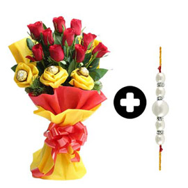 Rocher n Roses Rakhi Bouquet in Kanpur