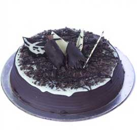 Send online half spl dark chocolate cake delivery in kanpur