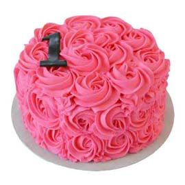 1 kg strawberry rose cake free home delivery  in Kanpur