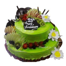 online delivery of 2.5 kg vanilla fruit party cake in Kanpur