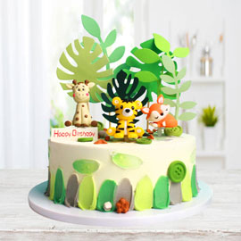 Order Animal Fondant Cake Delivery in Kanpur