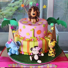 Animal Kids Party Cake Shop in Kanpur