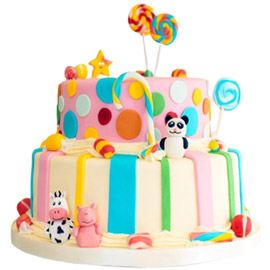 Animals Party Cake Delivery in Kanpur