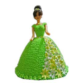 Send online barbie vanilla cake delivery in kanpur