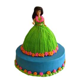 Send online barbie tier vanilla cake delivery in kanpur