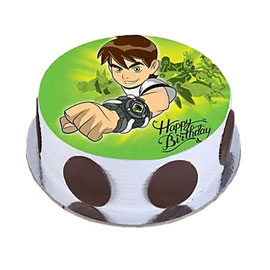 Online Delivery of Ben Ten Photo Cake Delivery in Kanpur