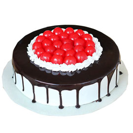 buy online half kg black forest cherry cake delivery in kanpur