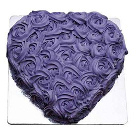 Buy online blue berry heart cake delivery in Kanpur @ best cake shop