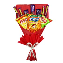 Buy online assorted chocolates, lays n kurkure paper packing bunch delivery kanpur