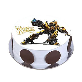 Online Delivery of Bumblebee Photo Cake Delivery in Kanpur
