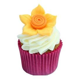 Send online charming daffodil cup cakes delivery in kanpur