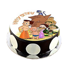 Online Delivery of Chota Bheem Photo Cake Delivery in Kanpur