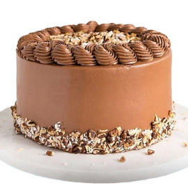 half kg choc-almond cake midnight delivery in Kanpur