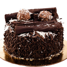 Send online half kg choco rocher delight cake delivery in kanpur
