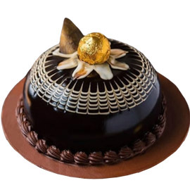 half kg choco rocher dome cake delivery in Kanpur