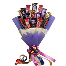 24 hrs online assorted chocolate paper packing bunch delivery in kanpur