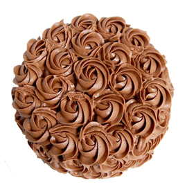 Midnight online chocolate rose cake delivery in Kanpur