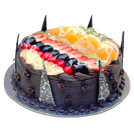 Send online Classic Choco Fruit chocolate cake delivery in kanpur