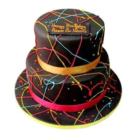 Urgent online classy colours cake delivery in kanpur @ best cake shop