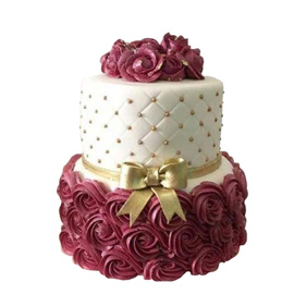 Classy Floral Cake Delivery in Kanpur