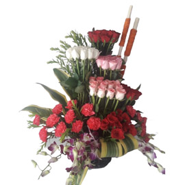 send Congratulations Flowers carnations midnight delivery in kanpur