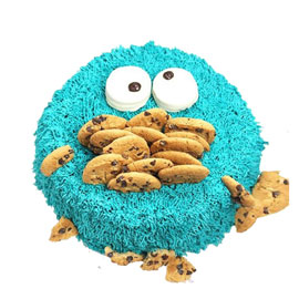 Buy cookie monster cake in kanpur