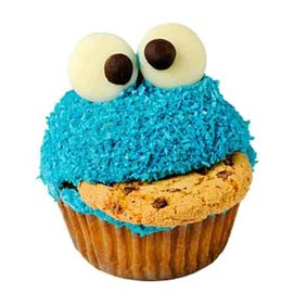 Gift online cookie monster cup cake delivery in kanpur