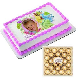 Urgent online photo cake n rocher chocolates pack in kanpur