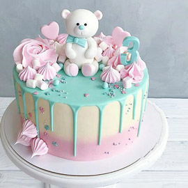 Cute Teddy Cake delivery in Kanpur