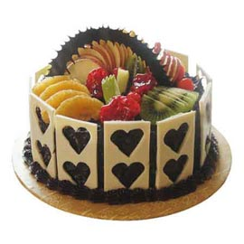 Send online special chocolate fruit cake delivery in kanpur