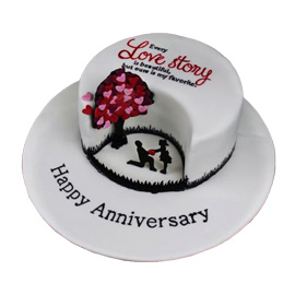 Designer Love Chocolate Fondant Cake