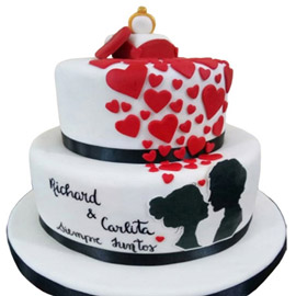 Engagement Cakes Kanpur Gifts