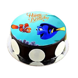 online delivery of Finding Nemo photo cake delivery in kanpur