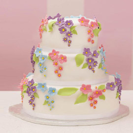 Floral Party Cake Delivery in Kanpur