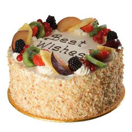 Same day online fresh fruit marble cake delivery in Kanpur