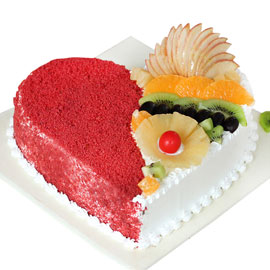 24 hrs online fruit lovers cake delivery in Kanpur