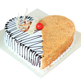 Send online half n half blackforest crunch cake delivery in kanpur