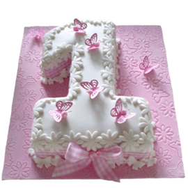 2 kg her 1st birthday cake midnight delivery in kanpur @ best cake shop