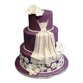 Send online her party cake delivery in kanpur