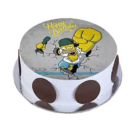 online delivery of Homer Simpsons photo cake delivery in kanpur