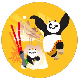 online delivery of kungfu panda cake delivery in kanpur