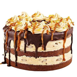 24 hrs delivery of half kg light chocolate cream cake delivery in kanpur