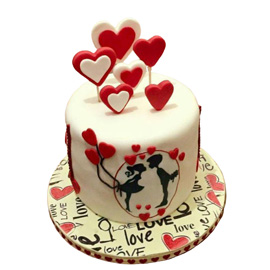 Love Fondant Cake Delivery in Kanpur