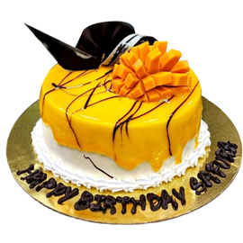 Midnight online mango cake delivery in Kanpur @ cake shop