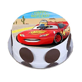 online delivery of Mcqueen photo cake delivery in kanpur