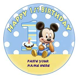 online delivery of mickey mouse 1st birthday cake delivery in kanpur