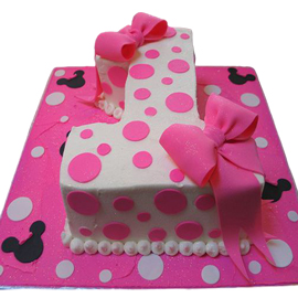 2 kg mini 1st birthday cake midnight delivery in kanpur @ best cake shop