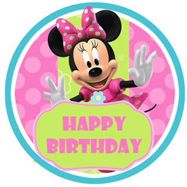 online delivery of mini mouse photo cake delivery in kanpur
