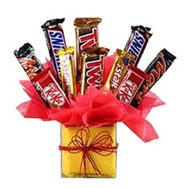 24 hrs online  mix chocolates arrangement delivery in kanpur